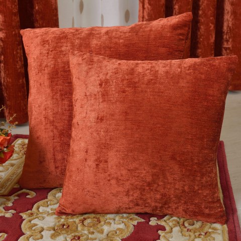 Luxury Terracotta Colour Chenille Curtain 8
