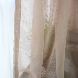 Notting Hill Mocha Luxury Voile Curtain 6
