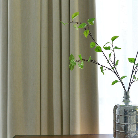 Blackout Zigzag Twill Cream Curtain 2