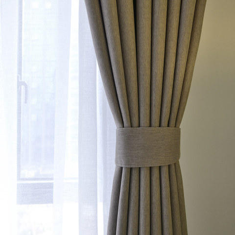 Blackout Zigzag Twill Light Brown Curtain 6
