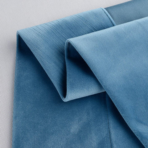 Velvet Microfiber Teal Blue Curtain 7
