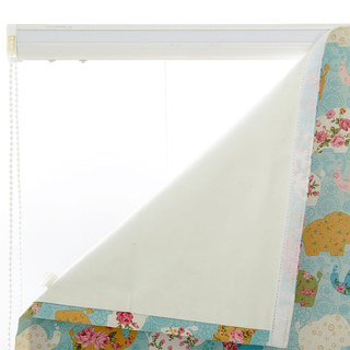 Baby Elephant Pink and Blue Roman Blind 2