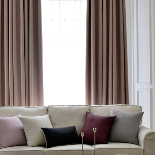 Blackout Zigzag Twill Mocha Colour Curtain 1