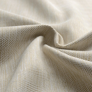 Blackout Zigzag Twill Cream Curtain 6