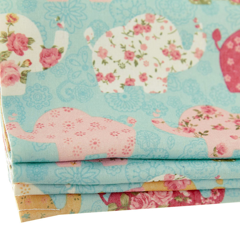 Baby Elephant Pink And Blue Roman Blind Voila Voile 174