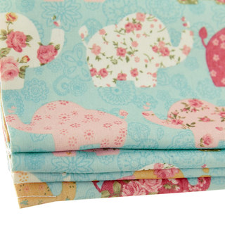 Baby Elephant Pink and Blue Roman Blind 3