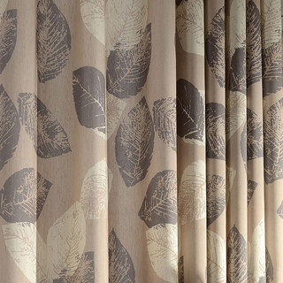 Block Leaf Brown Roman Blind 2