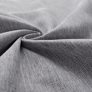 Blackout Zigzag Twill Grey Curtain 8