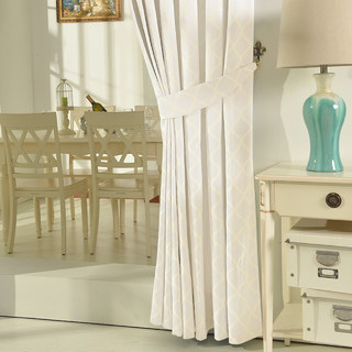 Wave Some Magic Jacquard Ivory Curtain 4