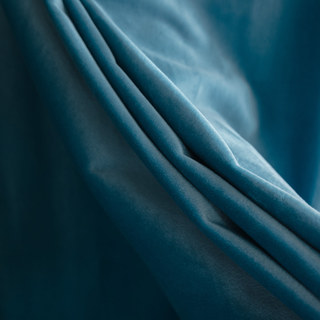 Velvet Microfiber Teal Blue Curtain 5