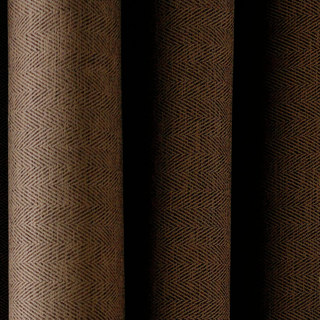 Blackout Zigzag Twill Coffee Brown Roman Blind 3