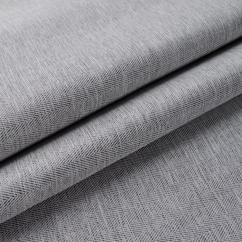 Blackout Zigzag Twill Grey Curtain 7