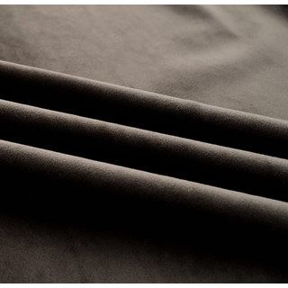 Velvet Microfiber Dark Brown Curtain 6