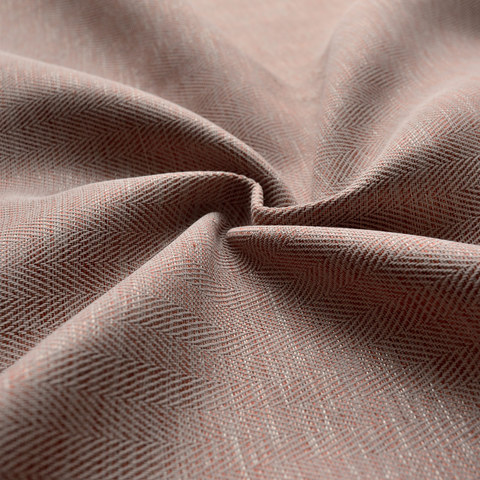 Blackout Zigzag Twill Mocha Colour Curtain 7