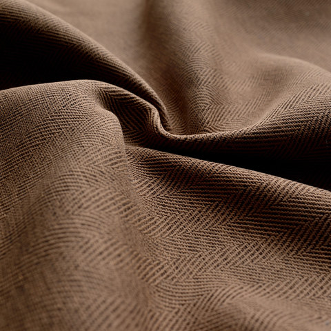 Blackout Zigzag Twill Coffee Brown Curtain 7