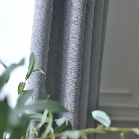 Blackout Zigzag Twill Grey Curtain 3