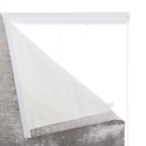 Luxury Silver Grey Colour Chenille Roman Blind 7