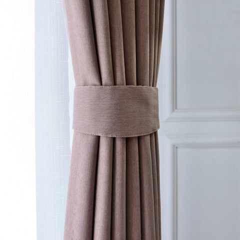 Blackout Zigzag Twill Mocha Colour Curtain 5