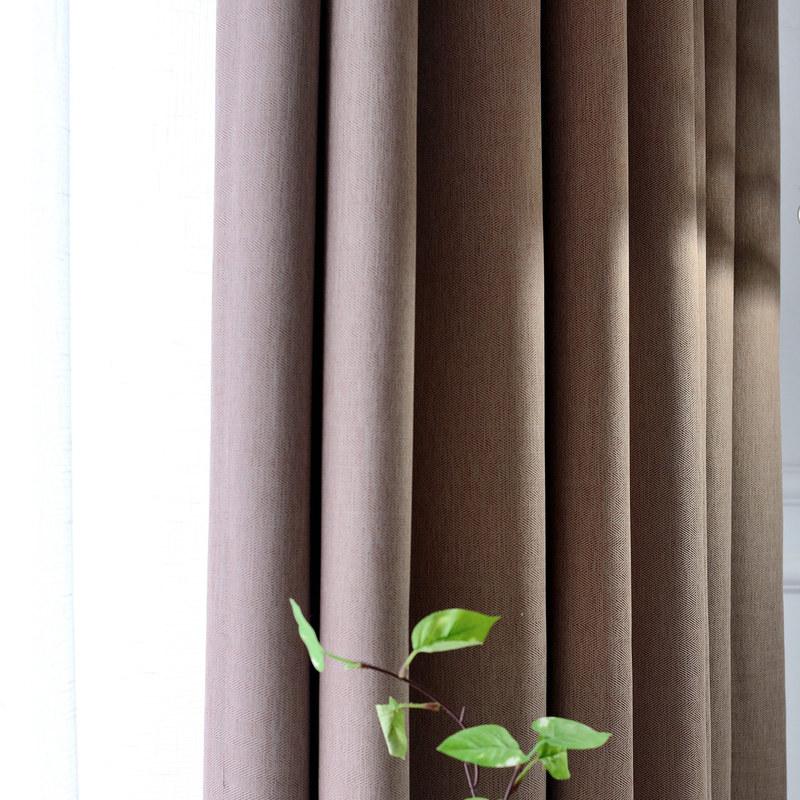 Blackout Zigzag Twill Mocha Colour Curtain Voila Voile 174