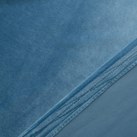 Velvet Microfiber Teal Blue Curtain 8