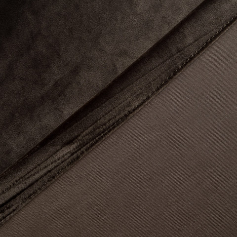 Velvet Microfiber Dark Brown Curtain 7