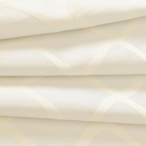Wave Some Magic Jacquard Ivory Curtain 6