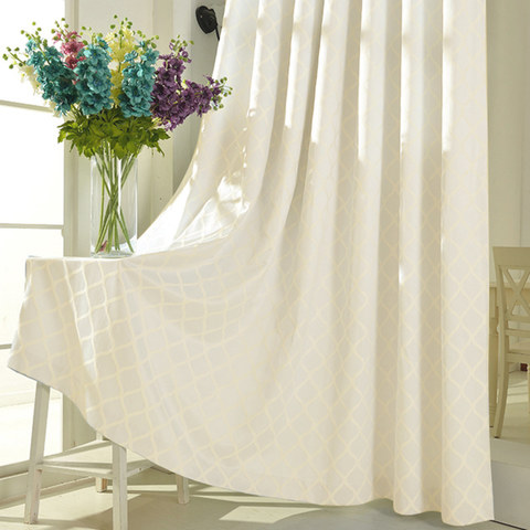 Wave Some Magic Jacquard Ivory Curtain 5