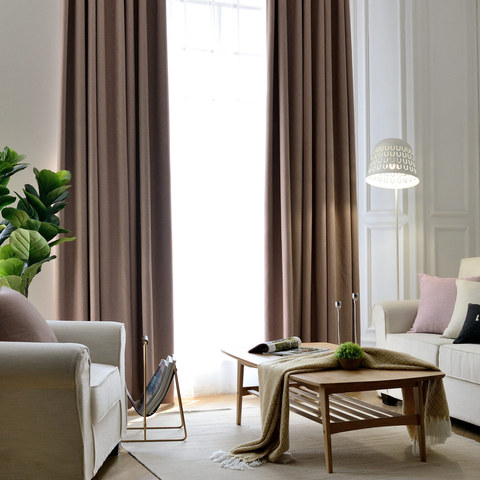 Blackout Zigzag Twill Mocha Colour Curtain 2