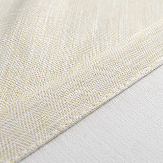 Blackout Zigzag Twill Cream Curtain 7