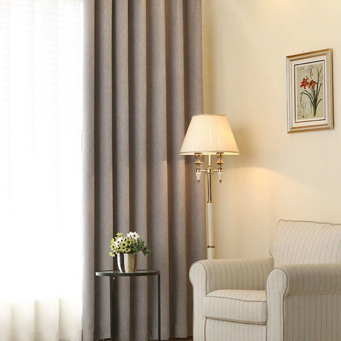 Gainsborough Light Grey Linen Style Curtain 1