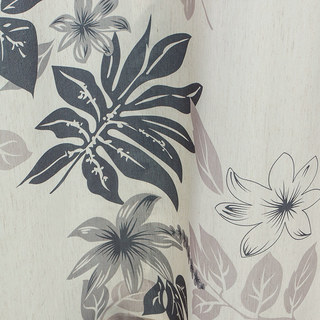 Tropical Leaves Grey Roman Blind 3