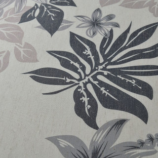 Tropical Leaves Grey Roman Blind 1
