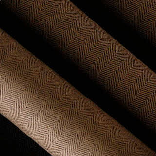 Blackout Zigzag Twill Coffee Brown Roman Blind 2