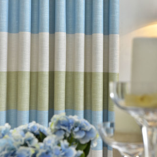 The Breezy Stripes Roman Blind 1