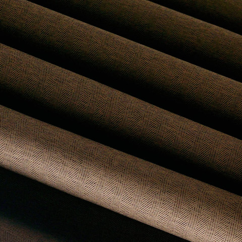 Blackout Zigzag Twill Coffee Brown Roman Blind 1