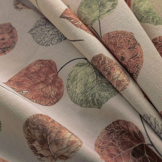 The Eucalyptus Moment Brown Leaf Roman Blind 2