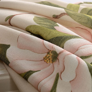 Smell The Roses Pastel Pink Floral Roman Blind 4