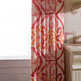 Spark Navajo Geometric Patterned Curtain 1
