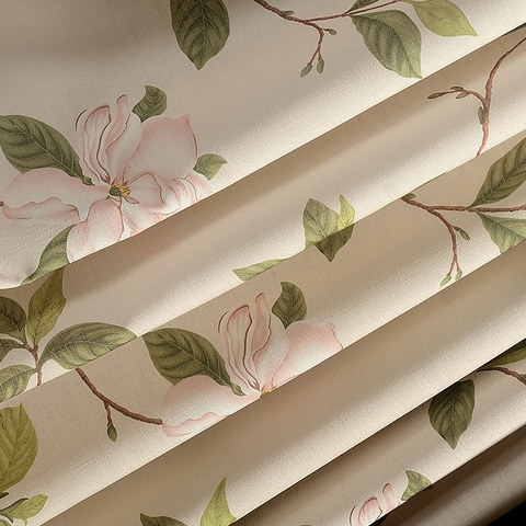 Smell The Roses Pastel Pink Floral Roman Blind 3
