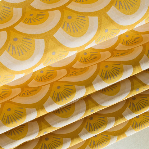 Hello sunshine Modern Yellow Floral Roman Blinds 1