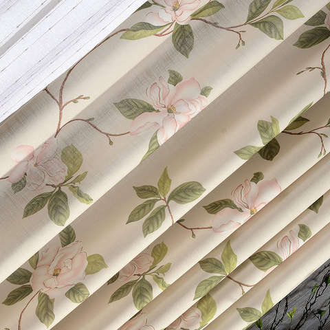 Smell The Roses Pastel Pink Floral Roman Blind 2