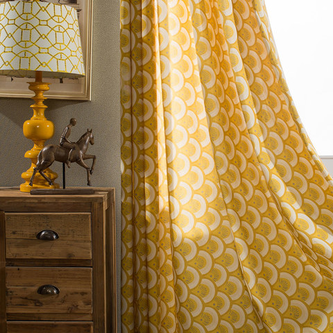 Hello sunshine Modern Yellow Floral Roman Blinds 6
