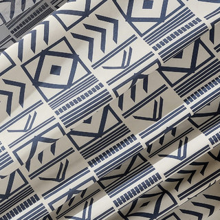 The City Sketch Blue Modern Geometric Roman Blind 2