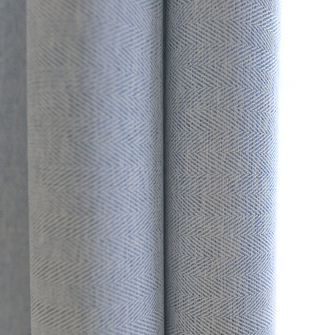 Blackout Zigzag Twill Baby Blue Roman Blind 3