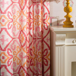 Spark Navajo Geometric Patterned Curtain 2