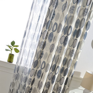 Infinity Blue Modern Geometric Patterned Curtain 7