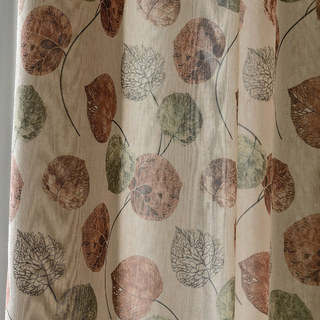 The Eucalyptus Moment Brown Leaf Curtain 5