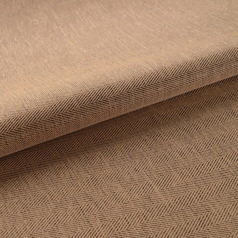 Blackout Zigzag Twill Brown Curtain 6