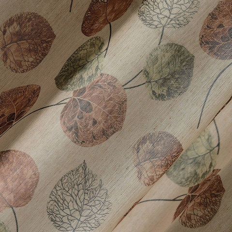The Eucalyptus Moment Brown Leaf Roman Blind 1