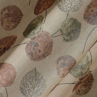 The Eucalyptus Moment Brown Leaf Curtain 6